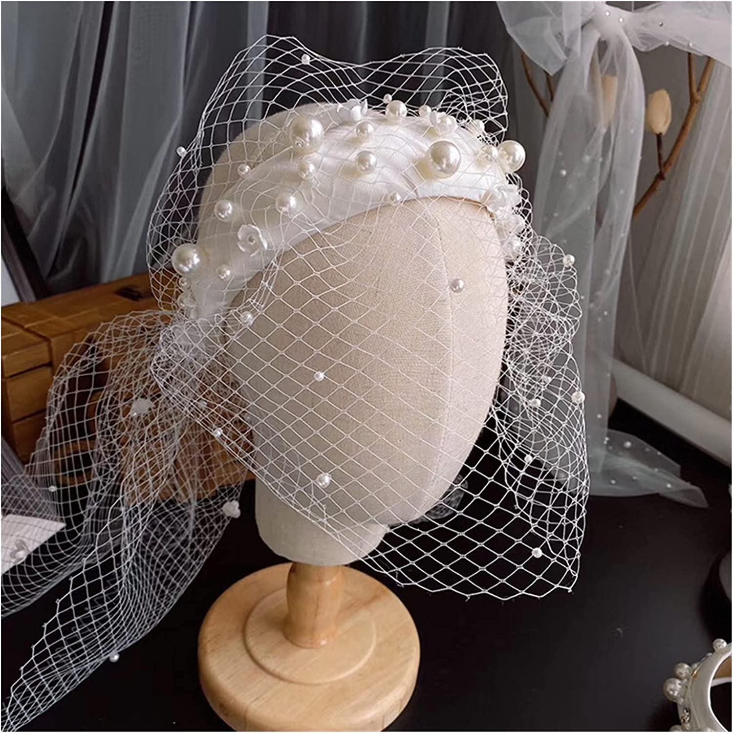 Max 75% OFF List price chenfeng Bridal Headband New Surface Mesh Pearl