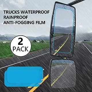 Anti Fog Film, Truck Rearview Waterproof Anti-Fogging, Anti-Mist Anti-Dazzle, Mirror Rainproof, Anti-Glare Side Mirror Window Protector Square Film, Anti- Fog Clear Truck Rearview Mirror Ac (2packs)