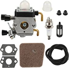 Buckbock C1Q-S97 Carburetor with Fuel Line Air Filter for Stihl HS45 Hedge Trimmer FC55 FC75 FC85 FS310 FS38 FS45 FS45C FS45L FS46 FS80 C1Q-S169B Carb