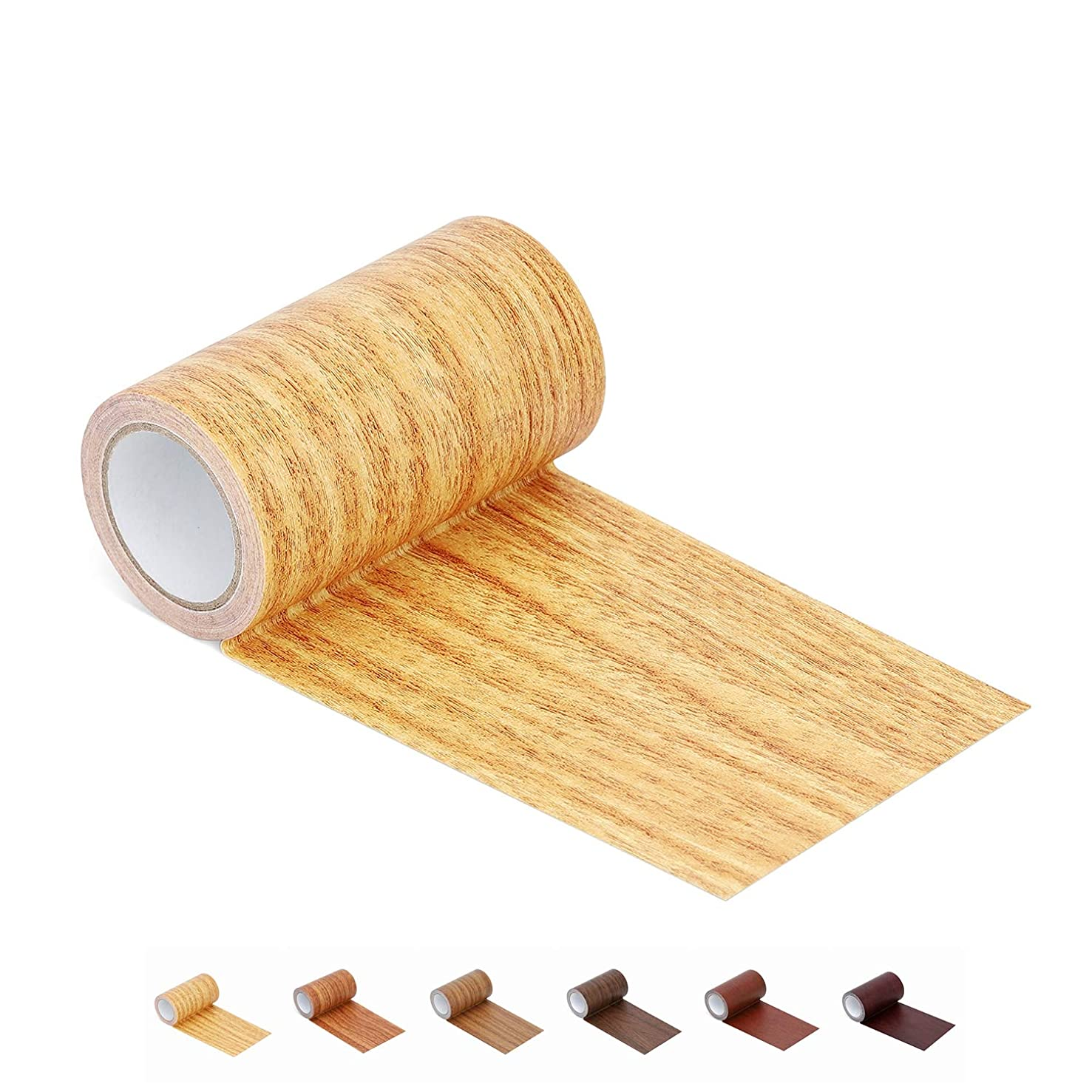 """Onine Repair Tape Patch Wood Textured Adhesive for Door Floor Tables and Chairs (2.4""""X15', Natural Oak)"""