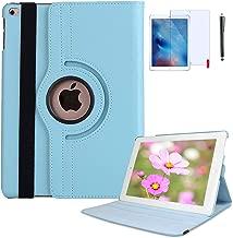 iPad Mini 4 Case, iPad Mini 5 Case with Bonus Screen Protector and Stylus - iPad Mini 4/5 Case - 360 Degree Rotating Stand Protective Hard-Cover Folding Case with Auto Wake/Sleep Feature (Baby Blue)