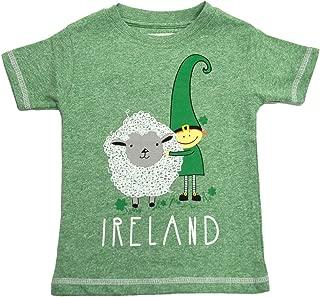 Green Leprechaun and His Sheep Ireland Kids T-Shirt