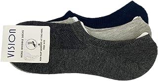 Vision Antibacterial Invisible Low Cut Socks, 3- Pack, for Men & Women