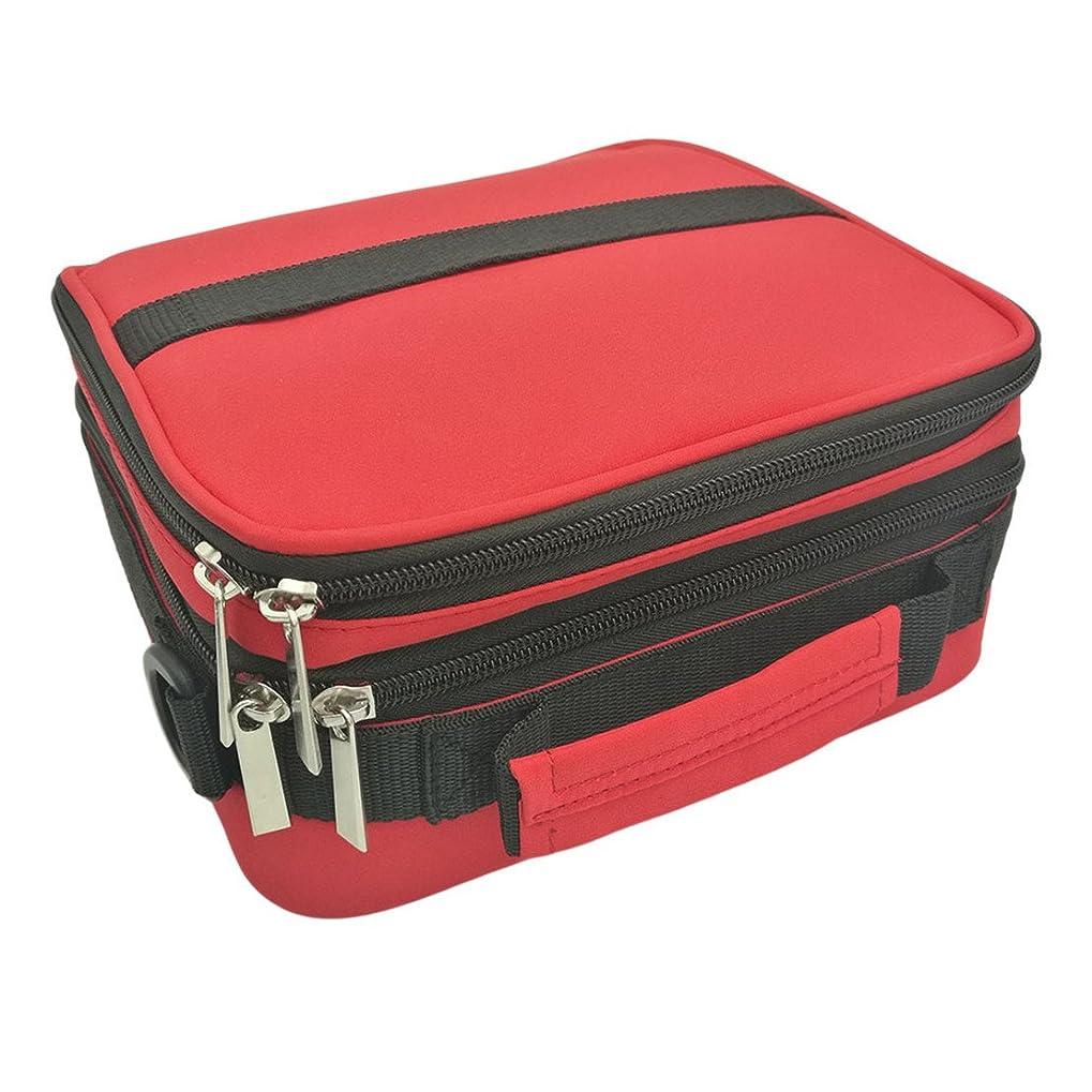各雨かき混ぜるMARUIKAO 42格 携帯用化粧バッグ 香水香水収納 バッグ エッセンシャルオイル マニキュア 保管袋