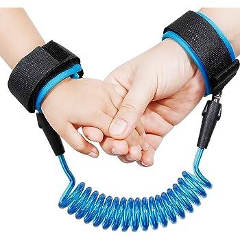 1,5m blau Kinder Hillento Baby Kind Anti verloren Sicherheit Handgelenk Link Gurtband Seil Leine gehen Hand G/ürtel f/ür Kleinkinder