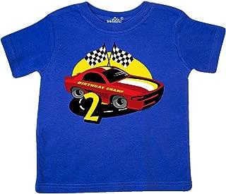 inktastic Race Car 2nd Birthday Toddler T-Shirt