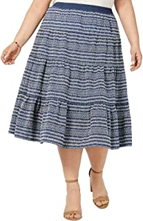 Tommy Hilfiger Womens Embroidered Eyelet Skirt