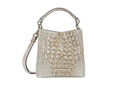 Brahmin Melbourne Mini Amelia Crossbody (Sterling) Handbags
