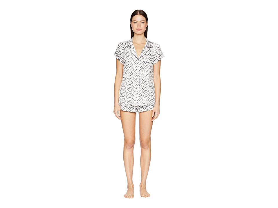 Eberjey Sleep Chic The Short Boxed Pajama Set (Foxtail/Ombre Blue) Women