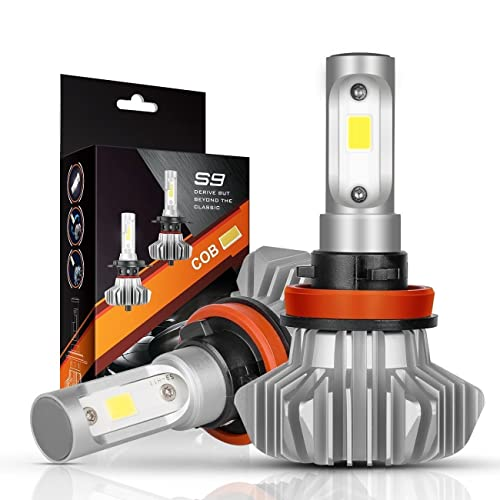 AutoFeel H11 LED Headlight Bulbs 7000LM IP68 Super Bright Car Exterior White Light Built-in