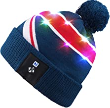 Qshell Light Up Beanie Hat, Stylish Unisex Men Women LED Knit Cap for Indoor and Outdoor, Walking, Skiing, Snowboard, Leisure, Celebration, Gaming, Holiday, Birthday, Parties, Bar