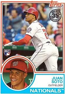2018 Topps Update 1983 Topps Design Baseball #83-12 Juan Soto Rookie Card