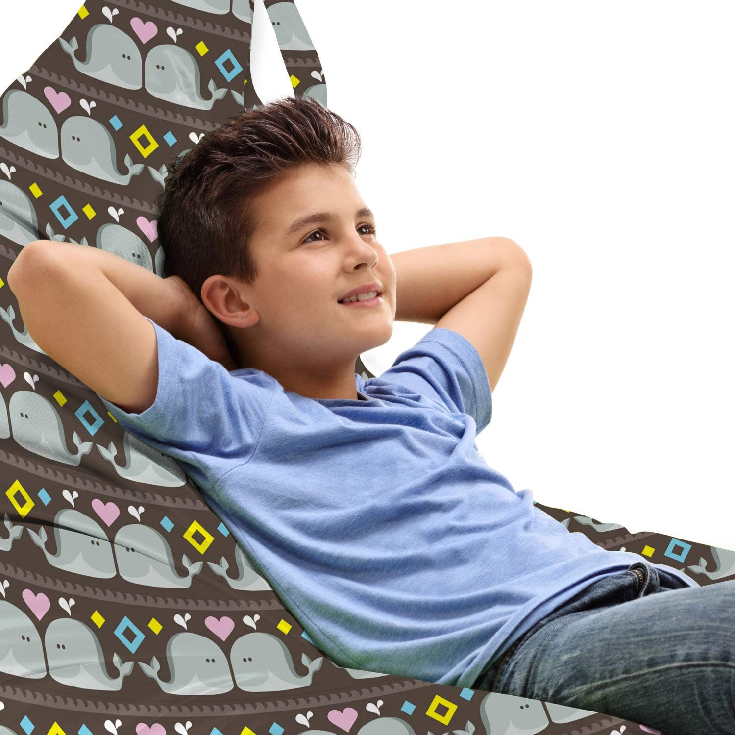 Ambesonne Whale Lounger Chair Bag Funny Simple Over item handling SEAL limited product Ocean in Animals