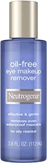 Neutrogena Oil-Free Liquid Eye Makeup Remover, Residue-Free, Non-Greasy, Gentle & Skin-Soothing Makeup Remover Solution with Aloe & Cucumber Extract for Waterproof Mascara, 3.8 fl. oz