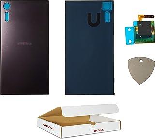 (md0410) بديل متوافق مع Xperia XZ 5.2 بوصة طراز F8331, F8332 - غطاء غطاء خلفي أسود معدني مع NFC + استبدال أداة الفتح