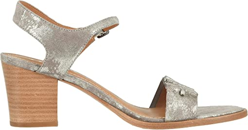 Pewter Metallic Suede