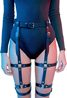Leg Harness Caged Thigh Holster Garters Harajuku Waist Gothic Rings Belt for Women Rave Outfits