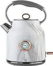 Tower Bottega T10020WMRG Rapid Boil traditionele waterkoker met temperatuurwijzerplaat, droogbescherming, automatische uit...