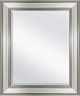 MCS 16x20 Inch Ridged Mirror, 21x25 Inch Overall Size, Silver (20578)