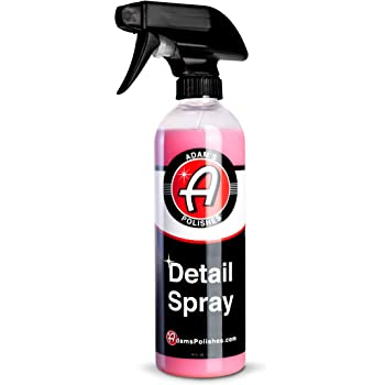 Adam's Detail Spray - Quick Waterless Detailer Spray for Car Detailing | Polisher Clay Bar & Car Wax Boosting Tech | Add Shine Gloss Depth Paint | Car Wash Kit & Dust Remover (16oz)