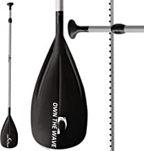 Own the Wave 2-Piece or 3-Piece Adjustable Alloy SUP Paddle/Stand Up Paddleboard Paddle
