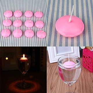 Rosa Candele galleggianti in Acqua Candela inodore Cena a lume di Candela Decorazione Candela Fenghong 20Pz Candela