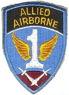 Embroidered Patch - Patches for Women Man - US Army WWII 1ST Allied Airborne Command Reproduction