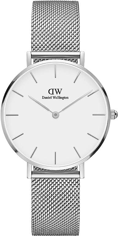 Daniel Wellington Petite Sterling - Reloj de pulsera para mujer, 28 mm, malla