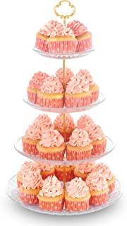 4-Tier Cupcake Stand Dessert Tower Display Rack Serving Tray for Wedding Birthday Baby Shower Party
