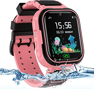Kids Smart Watch for Girls Boys, IP67 Waterproof Kids Smart Watch with GPS Tracker, 2 Ways Phone Calls Camera Alarms Calcu...