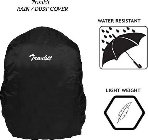 Trunit Rain Guard Rain Dust Cover Waterproof For Laptop Casual Backpack Black