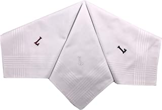 personalised initial handkerchiefs