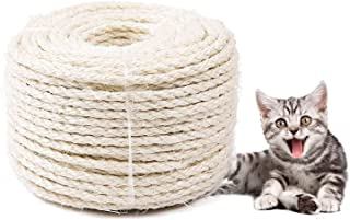 WELLXUNK Katzen sisalseil,Katzen Seil,Natürliches Sisalseil,katzenkratzbaum,kratzbaum Seil,Katzen Kratzseil,für Haushalt, Garten & Basteln,Perfekt geeignet für Katzen Kratzbäume