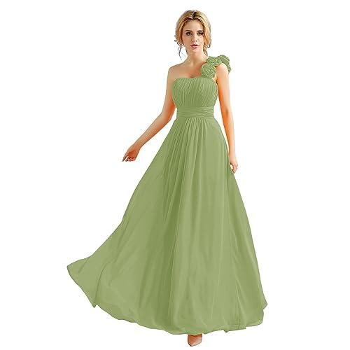 b50a9b872265 Angel Star Elegan One Shoulder With Flower Bridesmaid Eveing Wedding Party  Dress