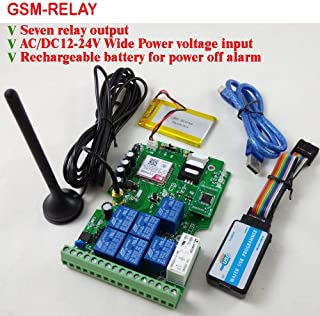 GSM Relay Remote Control Board with Seven Relay Real-Time Switch Output GSM Quad Band Designed with App Support