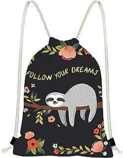 Deeprinter Drawstring Bag Durable Lightweight Daypack Gifts for Kids Women Men