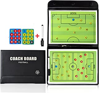 FantasyDay Soccer Magnetic Coach Clipboard with Dry Erase Zipper and Marker Pen - Coaching Strategy Board Kit Foldable and Portable Strategy Coach Board