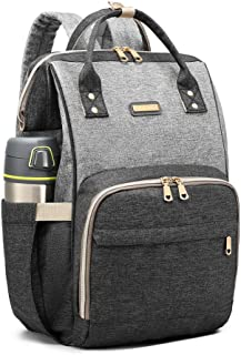 Diaper Bag Backpack, GAIVP Multifunction Travel Back Pack Maternity Baby Changing Bags, Gray
