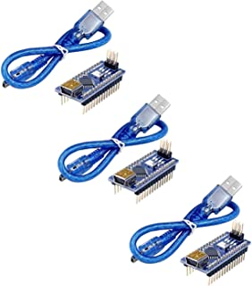 COODENKEY Pro Mini CH340/ATmega328P 5V 16M Arduino用Nano V3.0互換ボード ミニUSBケーブル付き 3個セット