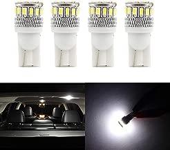 White 6000k Super Bright 3030 Chipsets Used for Dome Light 20PCS T10 194 168 2825 W5W 3SMD LED Bulbs Trunk Light Map Light License Plate Light Door Courtesy Light