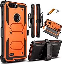 KooJoee Orange Armor Defender Case Compatible with ZTE Blade Z MAX/Sequoia Z982/ZMax Pro..