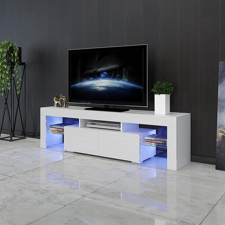 Rashinka Austin Mall Ranking TOP5 TV Stand White - Atand Media Comp Marte Home Console