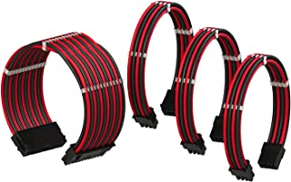 LINKUP - Cable con Manguito - Prolongación de Cable para Fuente de Alimentación con Kit de Alineadores┃1x 24P (20+4) MB┃1x...