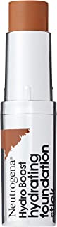 Neutrogena Hydro Boost Hydrating Foundation Stick with Hyaluronic Acid, Oil-Free & Non-Comedogenic Moisturizing Makeup for Smooth Coverage & Radiant-Looking Skin, Chestnut, 0.29 oz
