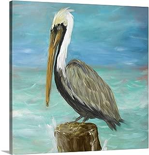 Pelicans on Post I Canvas Wall Art Print, 20