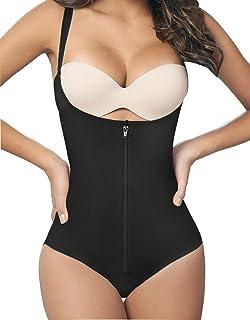 SHAPERX Women Seamless Firm Control Shapewear Faja Open Bust Bodysuit Body Shaper