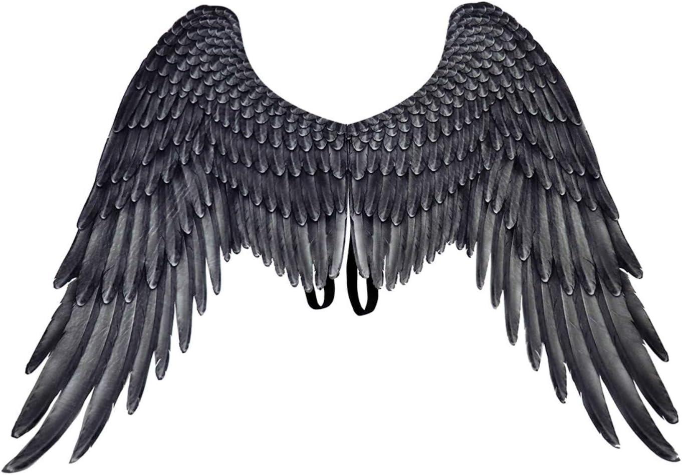 Maxi negro 105 cm x 75 cm Alas de /ángel Halloween Parthan plumas de /ángel para fiestas de Navidad