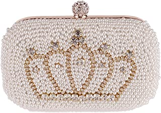 QARYYQ New Pearl Dinner Bag Fashion Hand Bag Diamond Crown Banquet Bag  Handbag Handbag Evening Package 725b8d8435ba