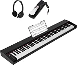 GLARRY Portable 88-Key Digital Piano for Beginners, Electric