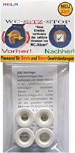 Rela wc-bril stop inzetstukken voor wc-brillen tegen verschuiven (6 mm + 8 mm)